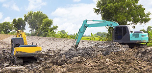 農地整備工事の工務部のイメージ